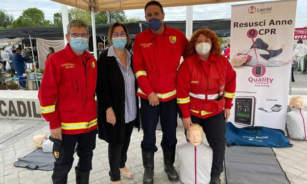 La alcaldesa de Pozuelo compartió con el SEAPA el Día Europeo del Paro Cardiaco